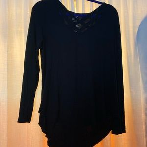 Criss cross American eagle top